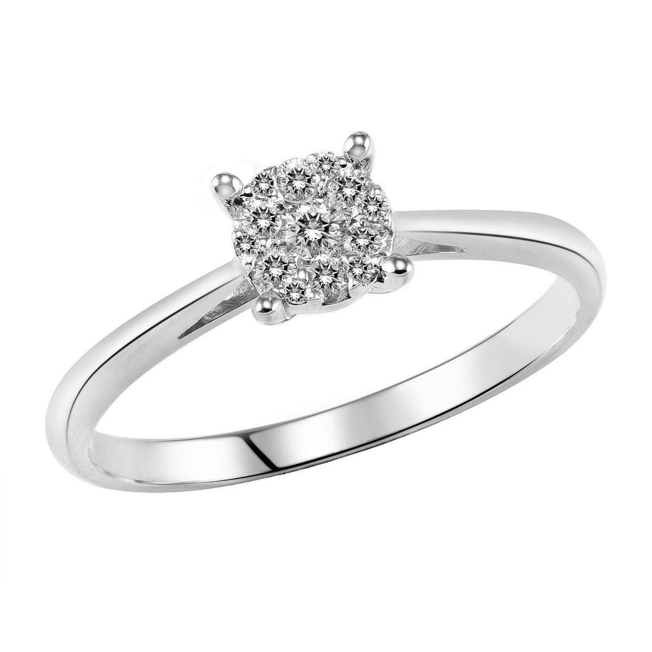 Золотое кольцо с бриллиантами, размер 16 (533136)