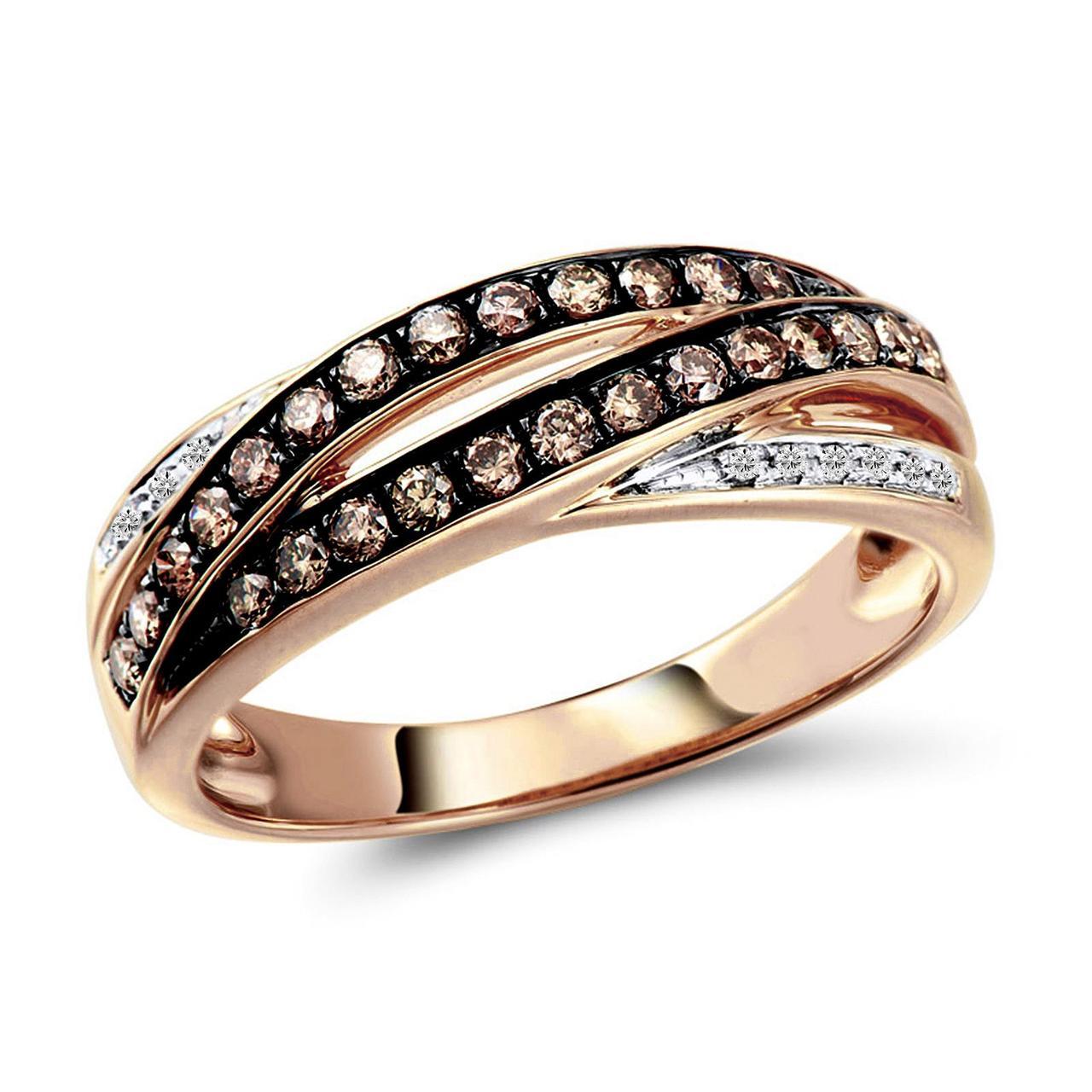 Золотое кольцо с бриллиантами, размер 17 (1554730)