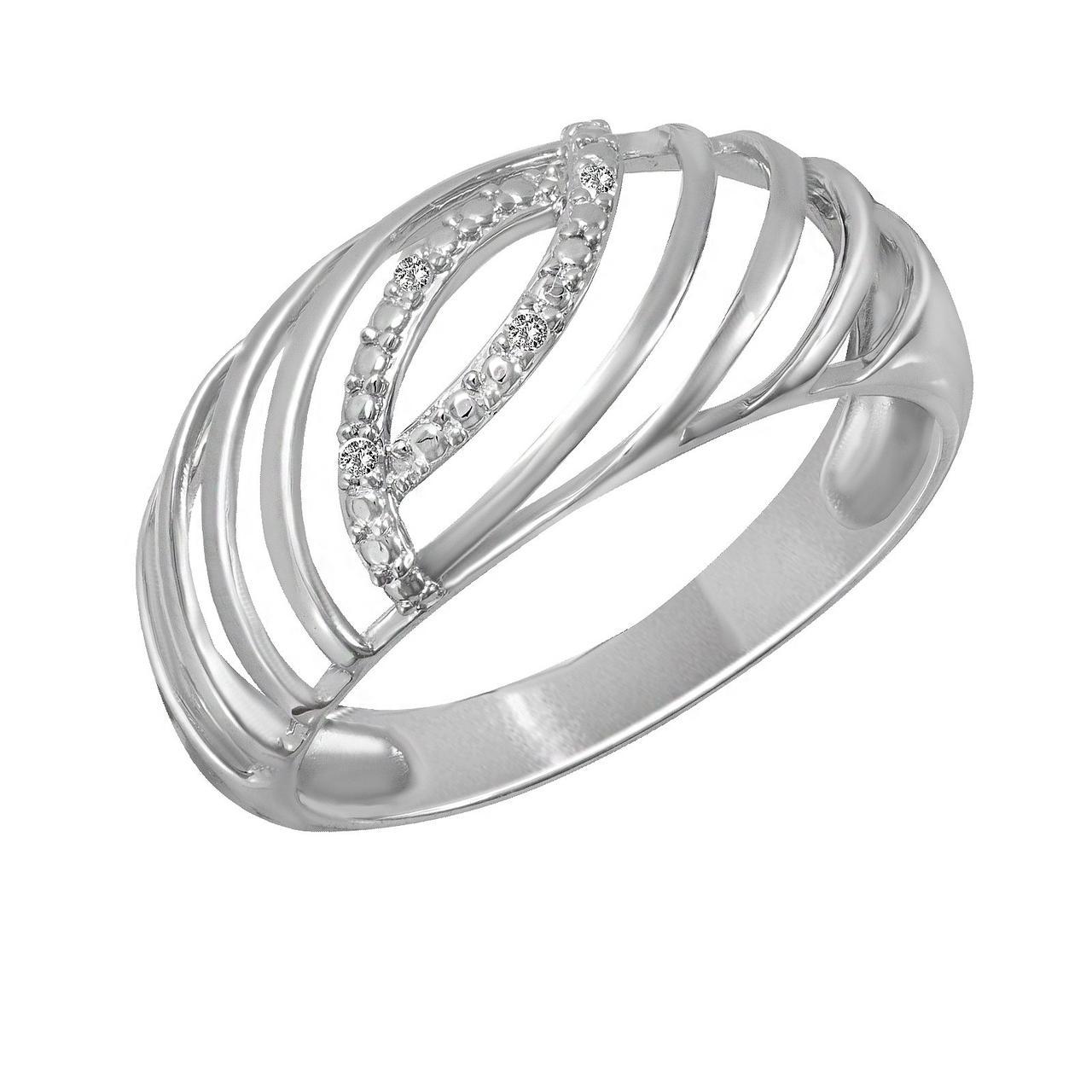 Золотое кольцо с бриллиантами, размер 16 (1633220)