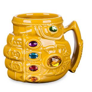 Кружка 3D керамическая Перчатка бесконечности Таноса Infinity Gauntlet Thanos