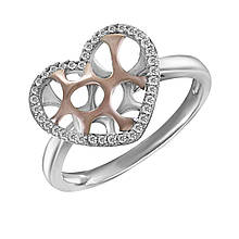 Золотое кольцо с бриллиантами, размер 16.5 (078715)