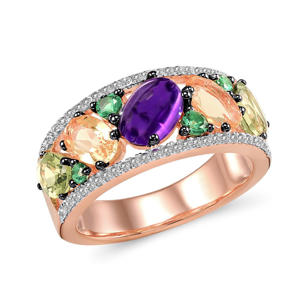 Золотое кольцо, размер 17.5 (210388)