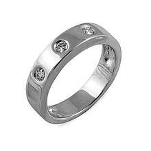 Золотое кольцо с бриллиантами, размер 17.5 (005030)