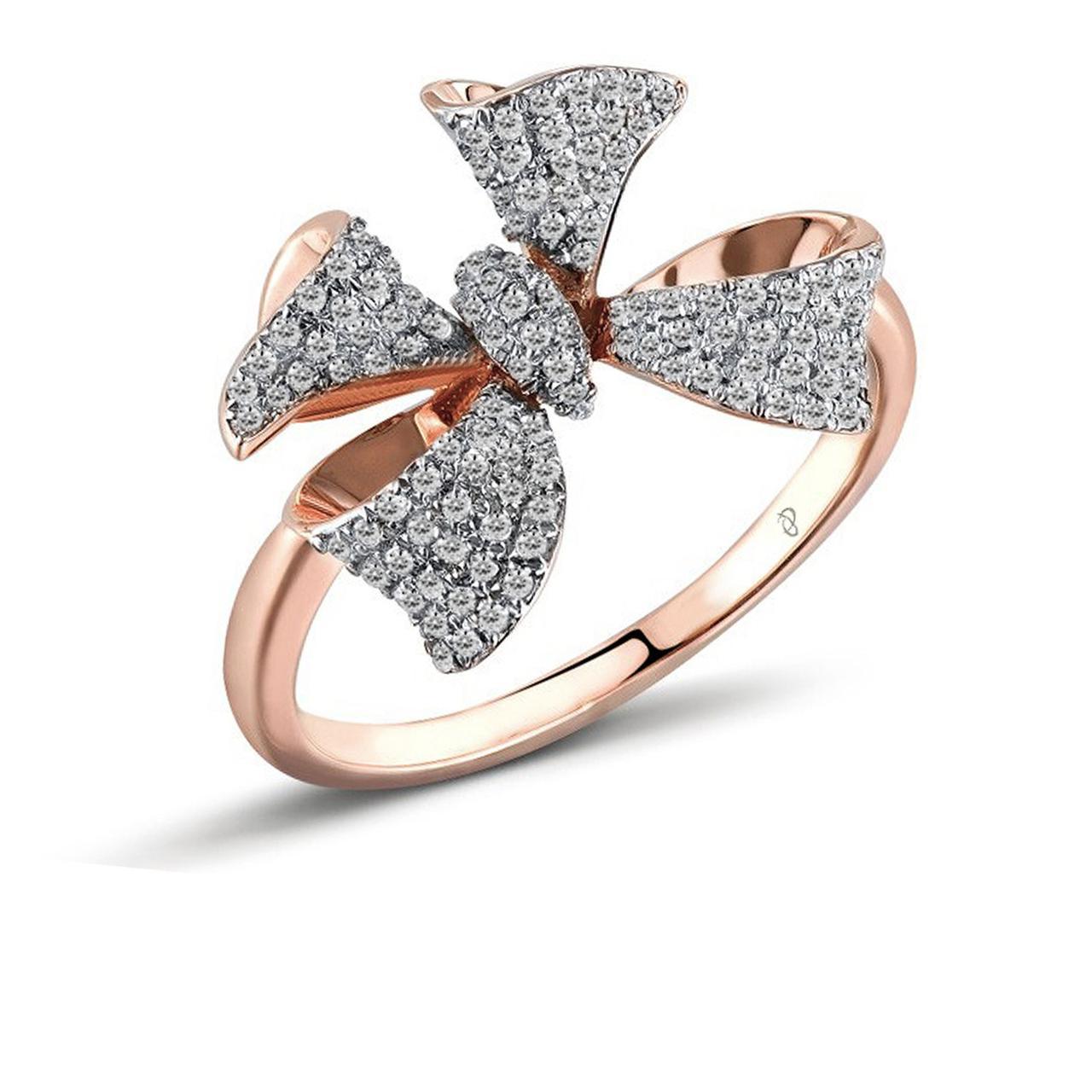Золотое кольцо с бриллиантами, размер 16.5 (1551747)