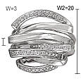 Золотое кольцо с бриллиантами, размер 17 (000100), фото 3