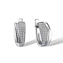 Серьги из серебра с куб. циркониями (1718924)