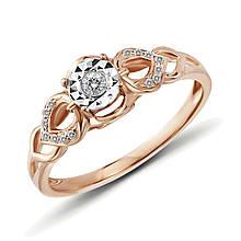 Золотое кольцо с бриллиантами, размер 16 (447926)