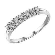 Золотое кольцо с бриллиантами, размер 16.5 (1637978)