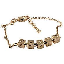 Женский браслет с золотым покрытием, размер 19 (076661)