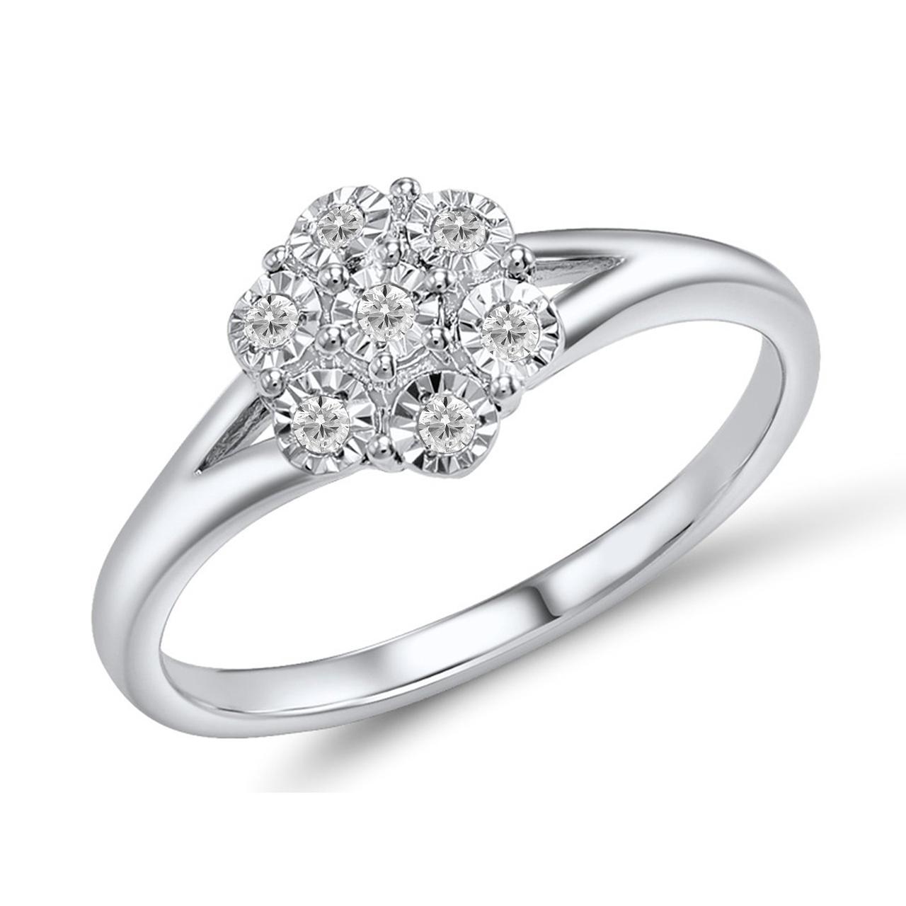 Золотое кольцо с бриллиантами, размер 17 (1681456)