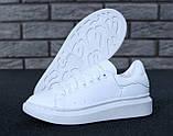 Жіночі кросівки Alexander McQueen в стилі олександр маккуїн БІЛІ (Репліка ААА+), фото 5