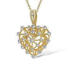 Кулон из желтого золота с бриллиантами (210765)