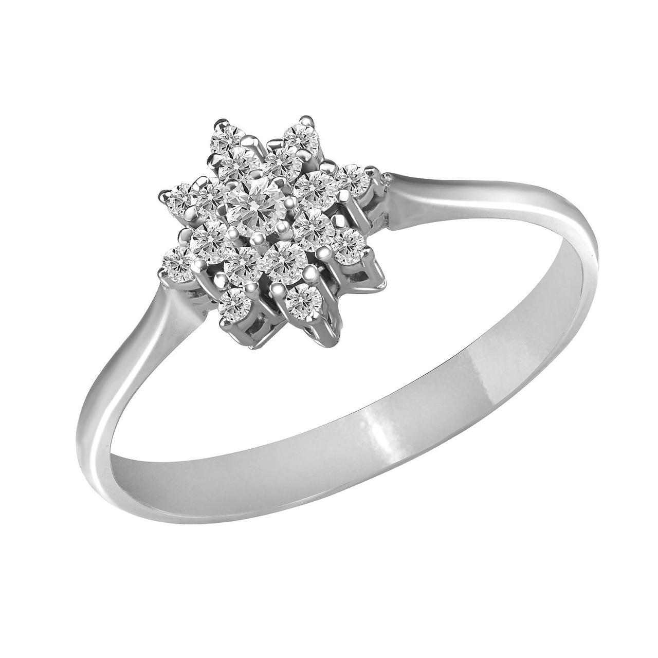 Золотое кольцо с бриллиантами, размер 16.5 (885130)