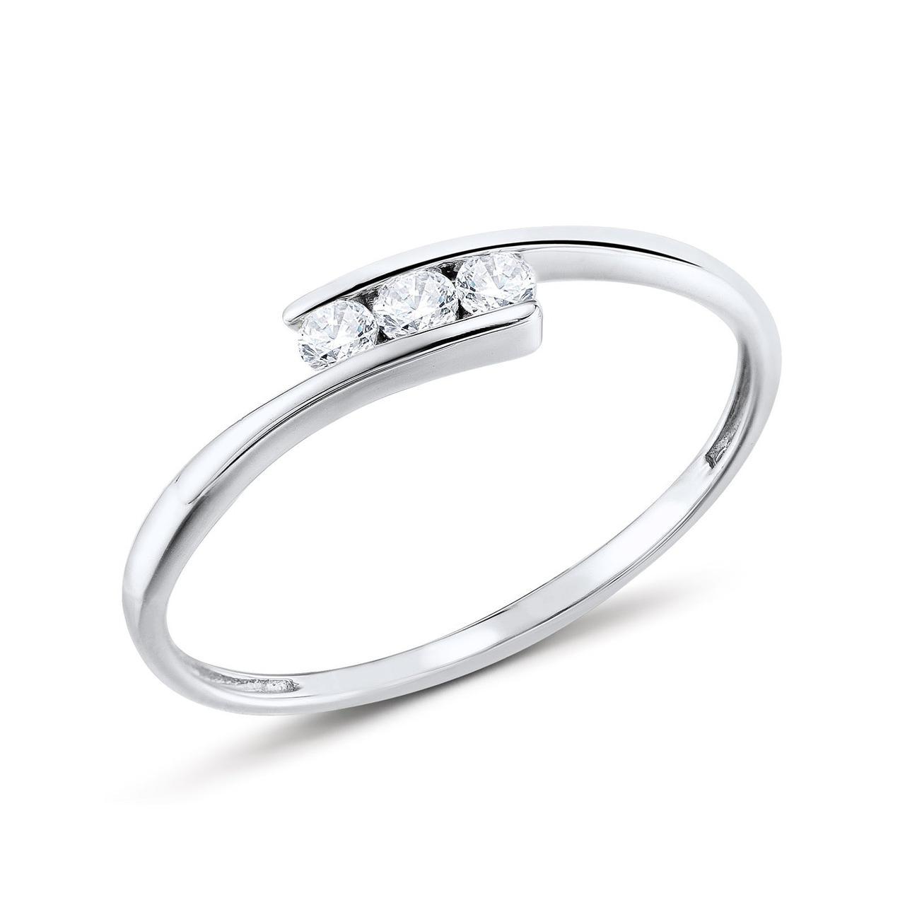 Золотое кольцо с бриллиантами, размер 16.5 (348628)