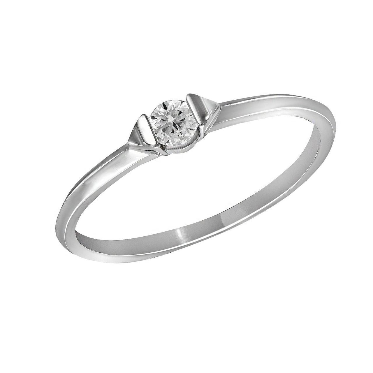 Золотое кольцо с бриллиантом, размер 16 (1616709)