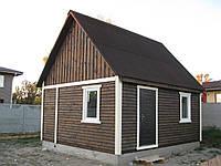 Дом каркасный 6х5 с полумансардным этажем.Зимний вариант.