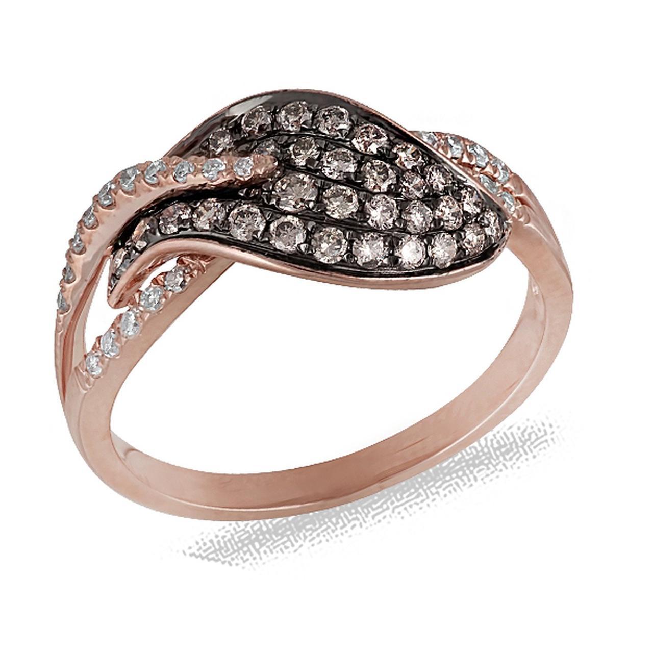 Золотое кольцо с бриллиантами, размер 16.5 (030237)