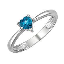 Золотое кольцо с топазом, размер 17 (273152)