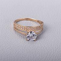 Золотое помолвочное кольцо с фианитами КП1695