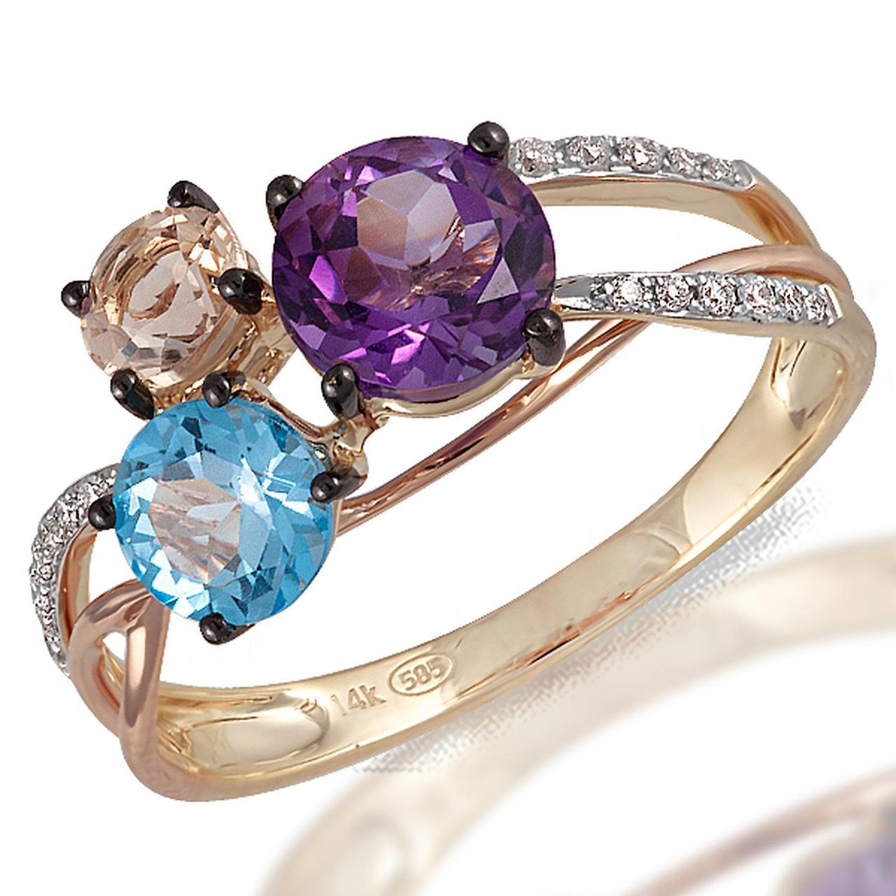 Золотое кольцо, размер 16.5 (055838)