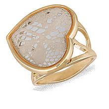 Кольцо с золотым покрытием, размер 17 (077427)