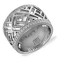 Серебряное кольцо с куб. циркониями, размер 16.5 (078192)