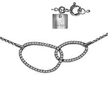Колье из серебра с куб. циркониями, размер 45 (1531102)