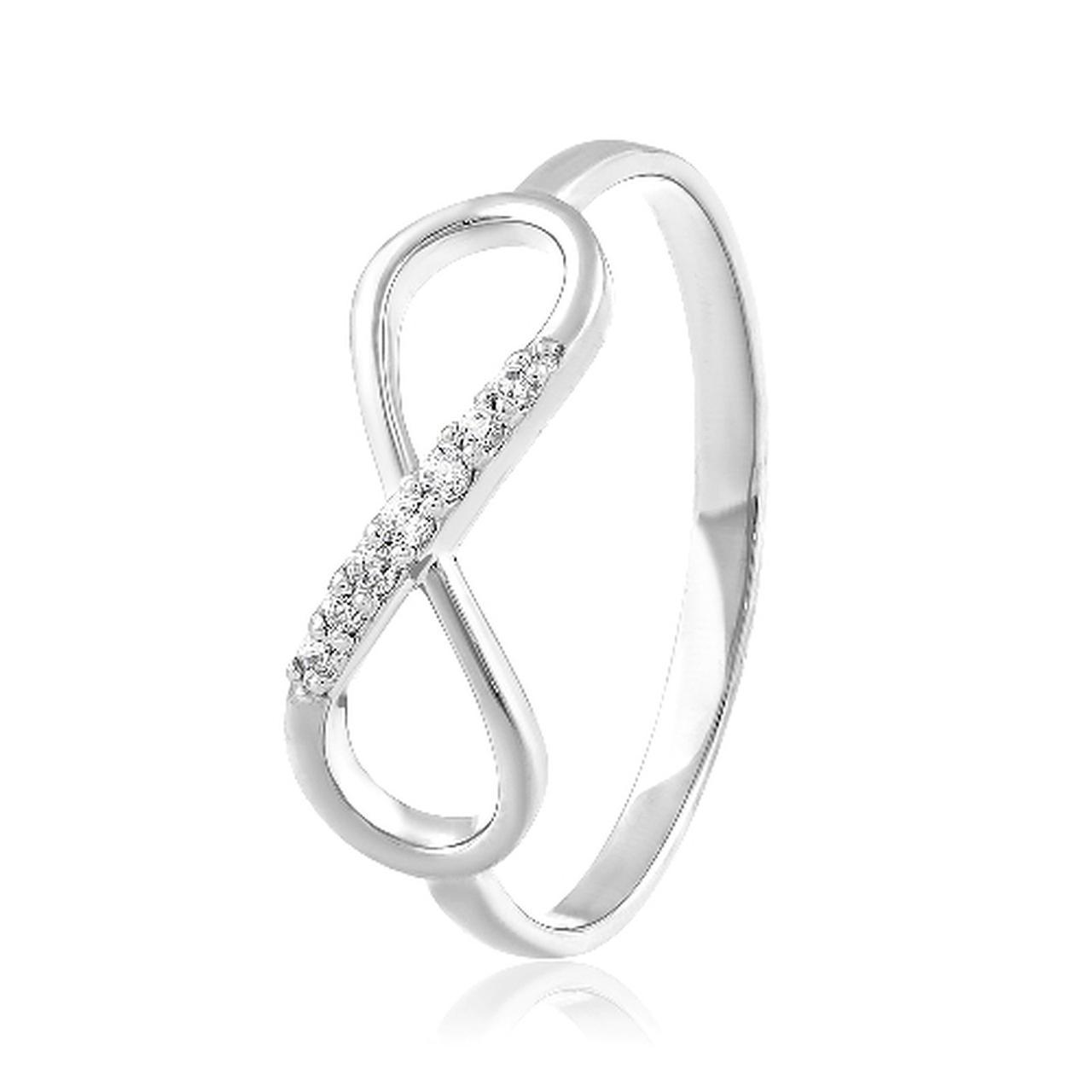 Золотое кольцо с куб. циркониями, размер 15 (308907)