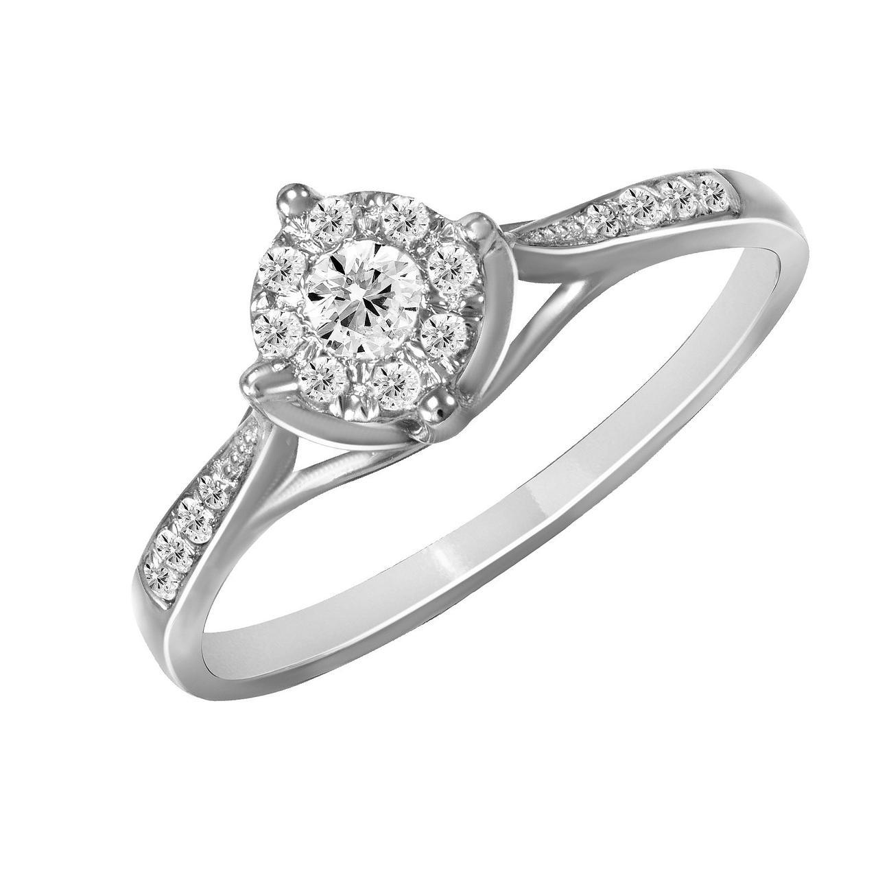 Золотое кольцо с бриллиантами, размер 16.5 (009011)