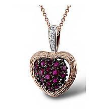Кулон из красного золота с бриллиантами и рубинами (1550846)