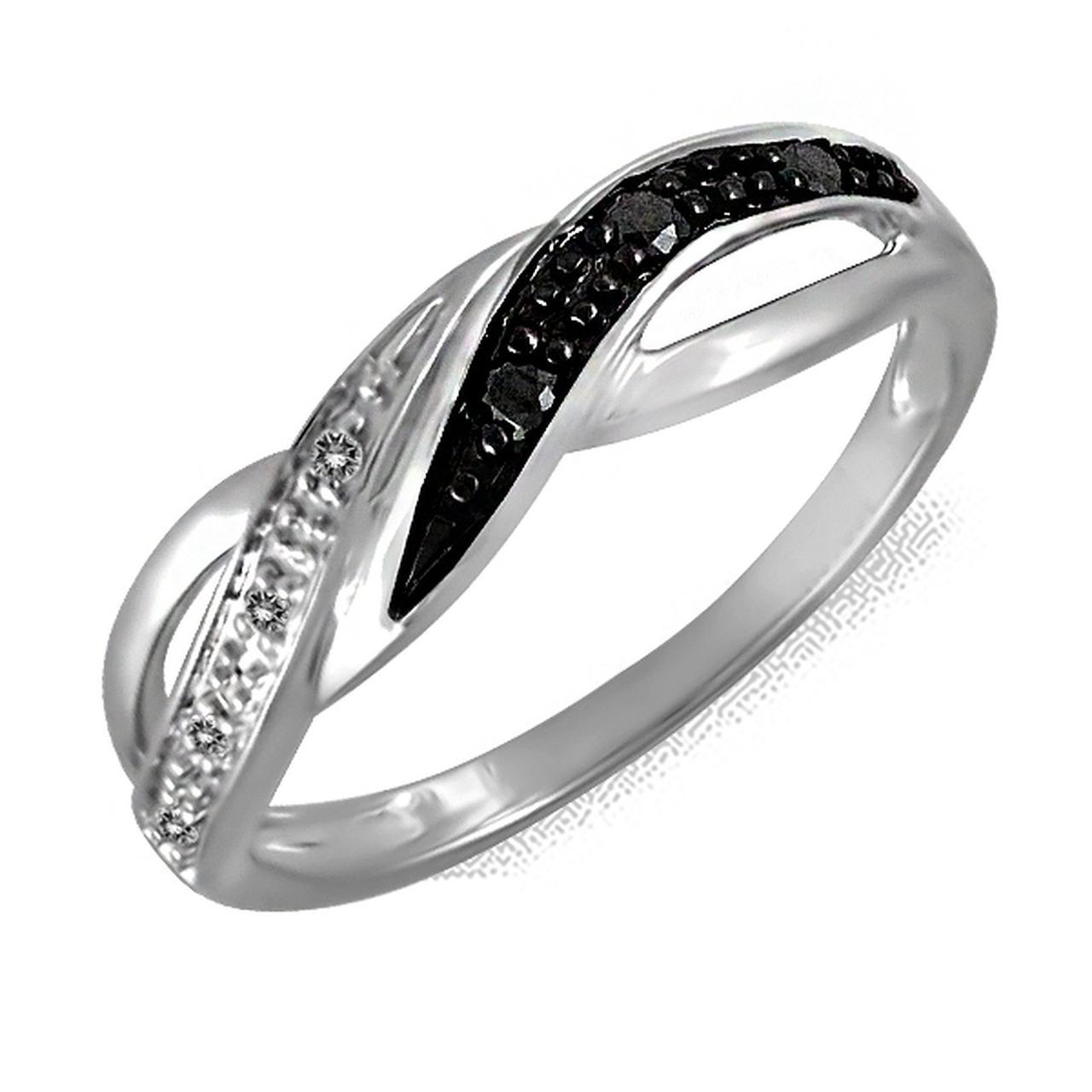 Золотое кольцо с бриллиантами, размер 16.5 (156353)