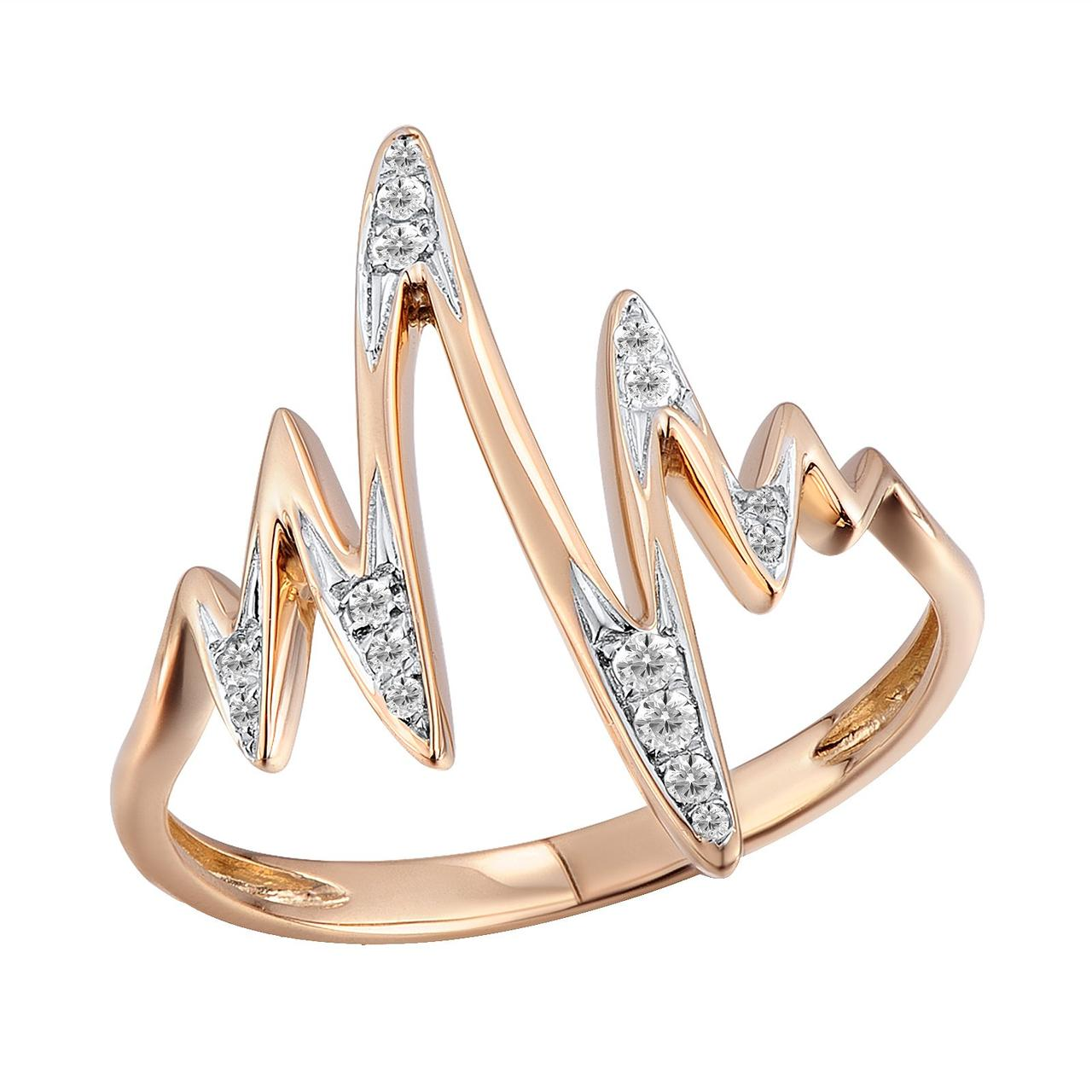Золотое кольцо с бриллиантами, размер 16.5 (813720)