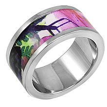 Женское кольцо с эмалью, размер 17.5 (799084)
