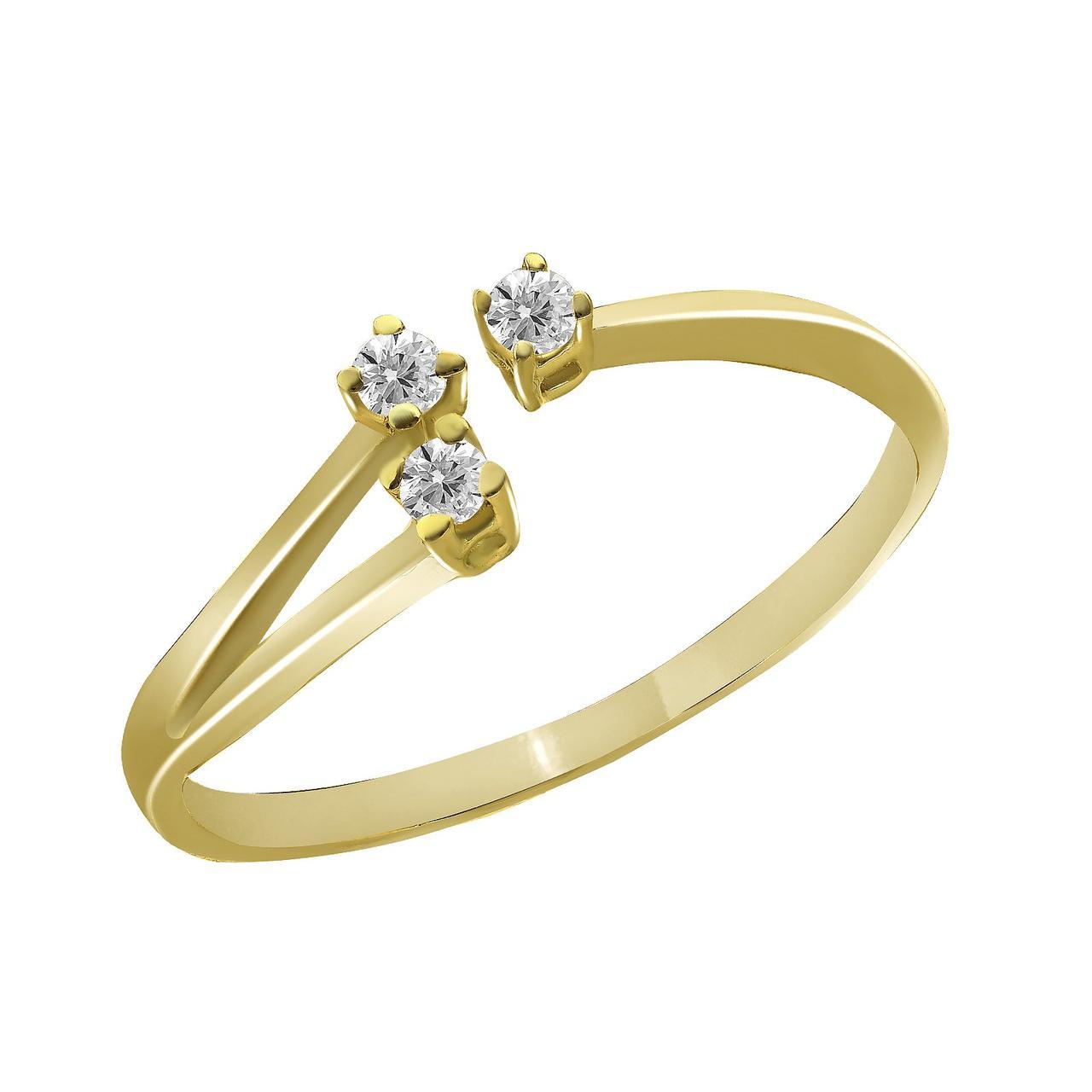 Золотое кольцо с бриллиантами, размер 17.5 (872564)
