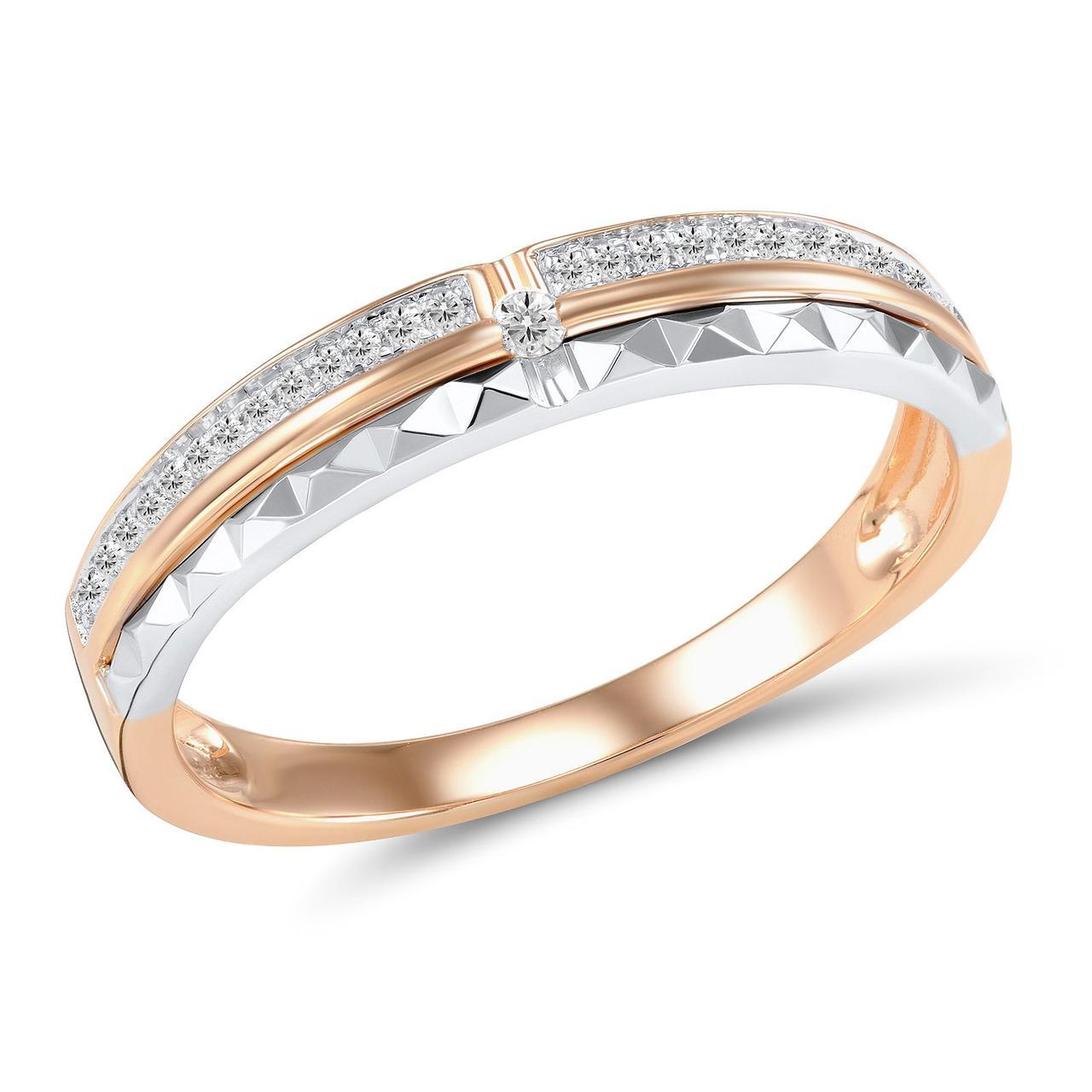 Золотое кольцо с бриллиантами, размер 17 (1551231)