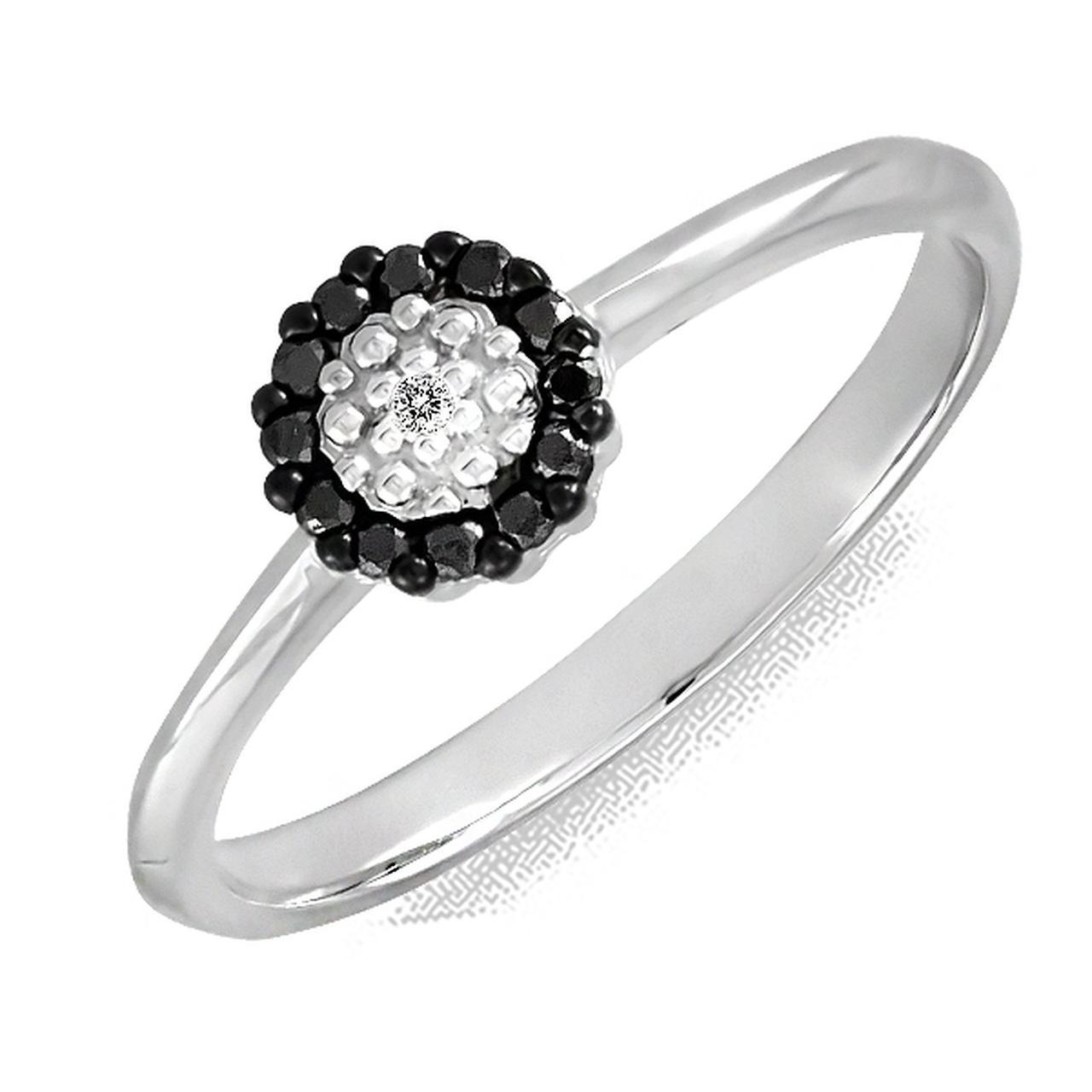 Золотое кольцо с бриллиантами, размер 16 (191446)