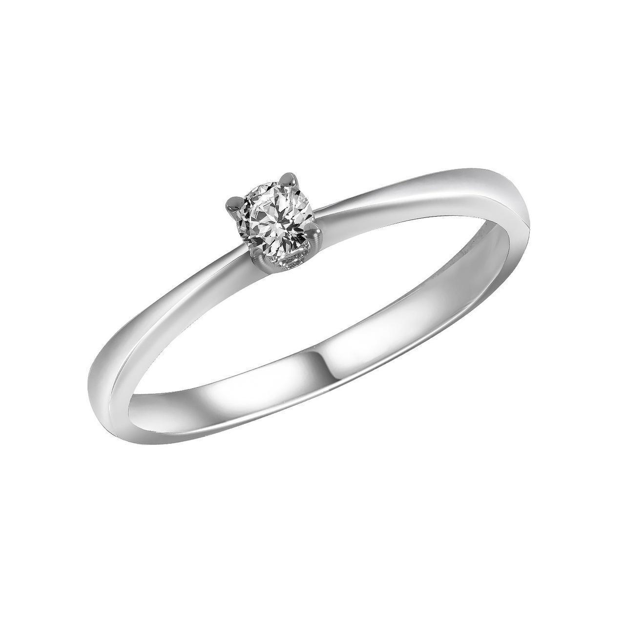 Золотое кольцо с бриллиантом, размер 17.5 (700028)
