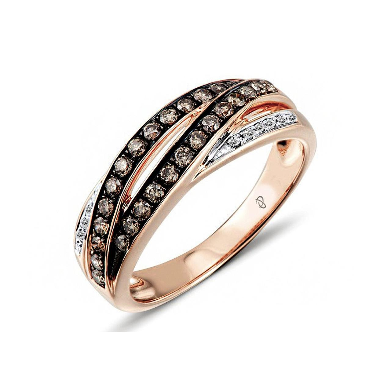 Золотое кольцо с бриллиантами, размер 17 (1551713)