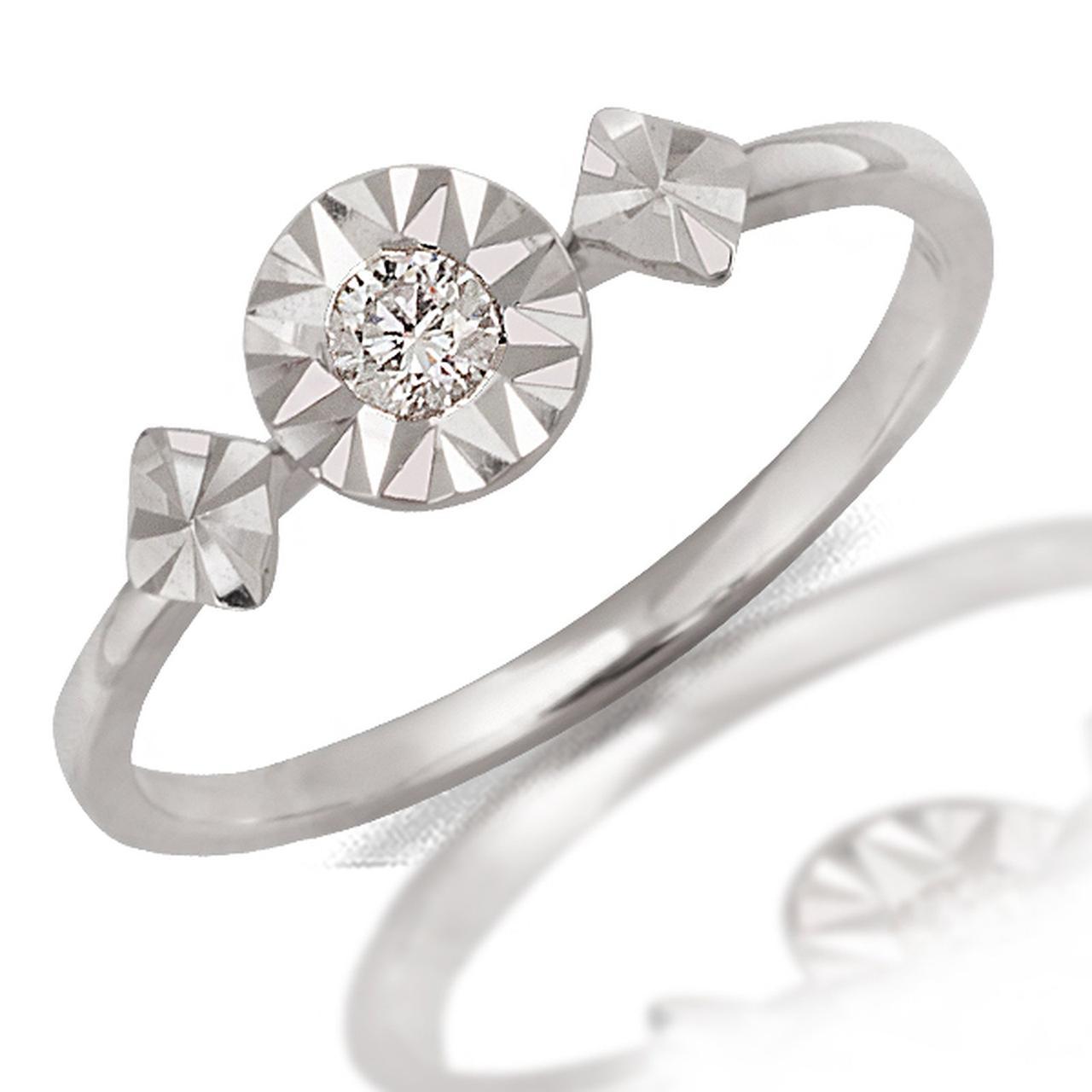 Золотое кольцо с бриллиантом, размер 16.5 (046760)