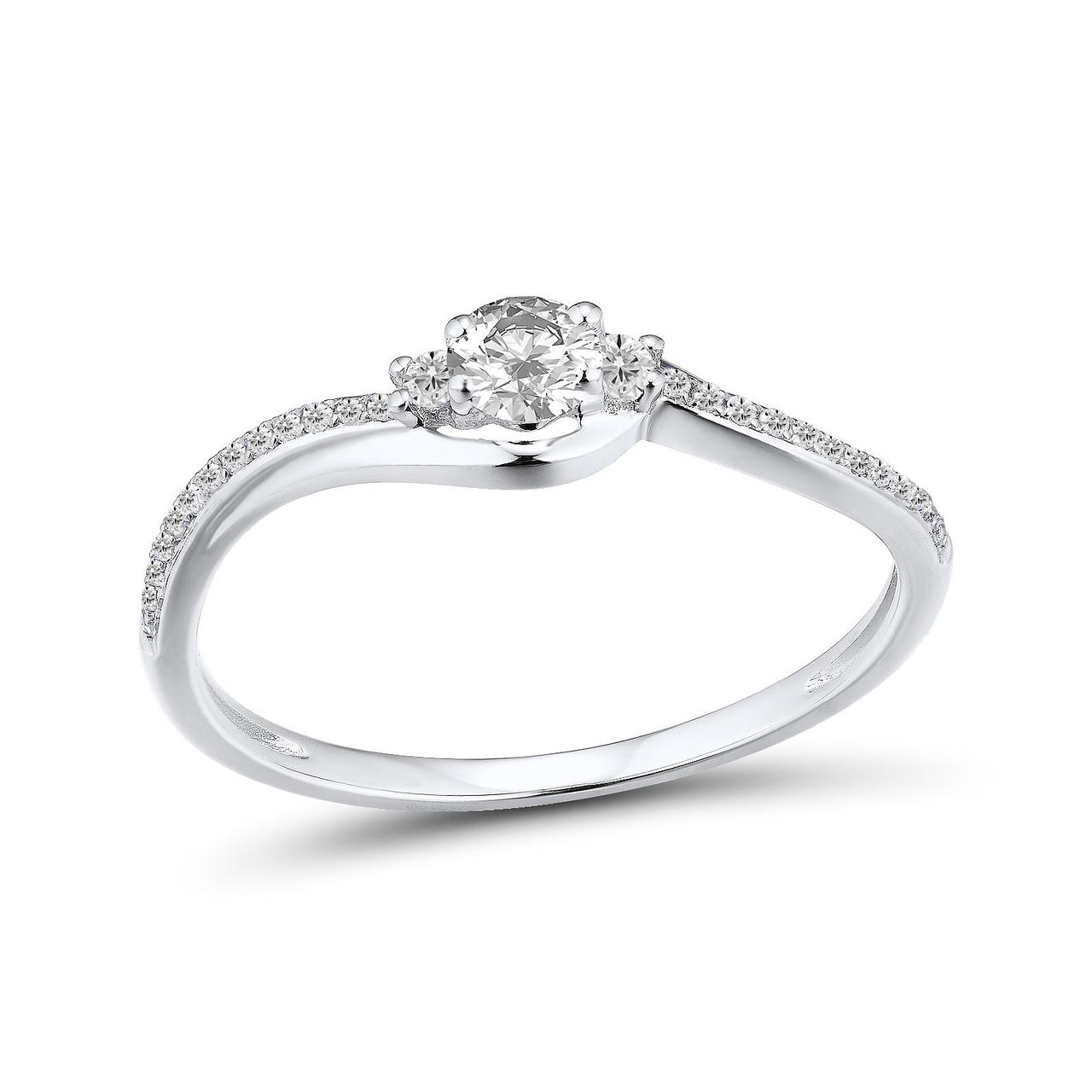Золотое кольцо с бриллиантами, размер 16 (1681644)