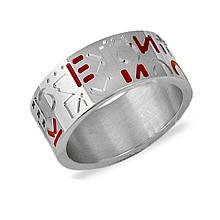 Серебряное кольцо с лаком, размер 17 (030189)
