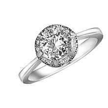 Серебряное кольцо с куб. циркониями, размер 15 (143353)