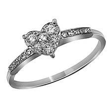 Золотое кольцо с бриллиантами, размер 17 (043387)
