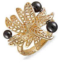 Кольцо с золотым покрытием, размер 16.5 (078303)