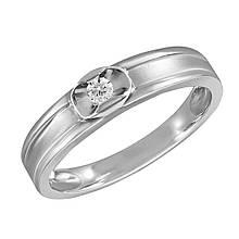 Золотое кольцо с бриллиантом, размер 16.5 (1673230)