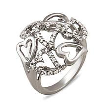 Золотое кольцо с бриллиантами, размер 16.5 (003759)