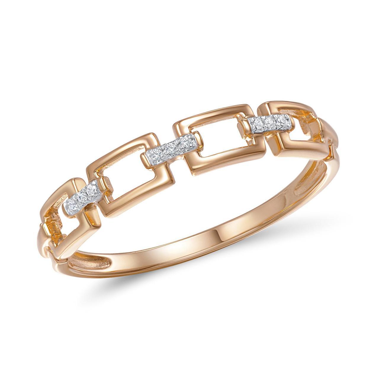 Золотое кольцо с бриллиантами, размер 16.5 (269065)