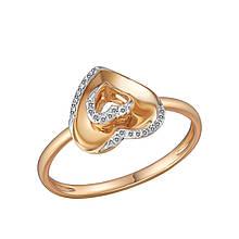 Золотое кольцо с бриллиантами, размер 16.5 (813730)