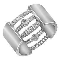 Серебряное кольцо с куб. циркониями, размер 17.5 (858496)