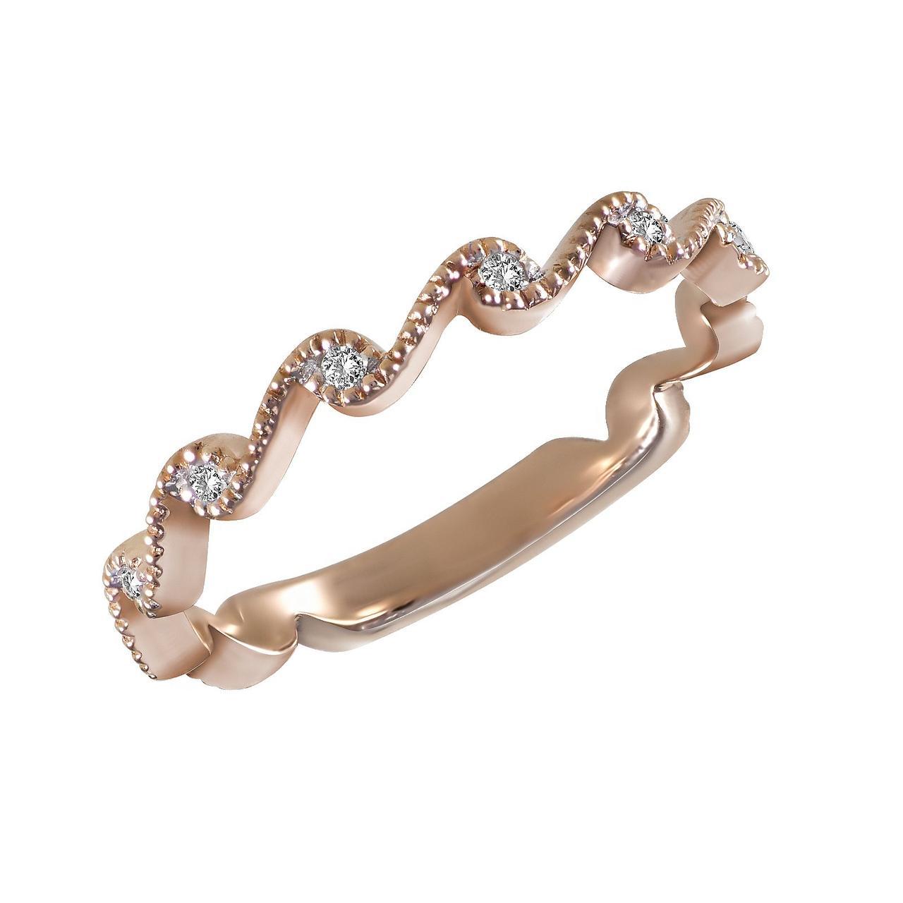 Золотое кольцо с бриллиантами, размер 16.5 (1684252)